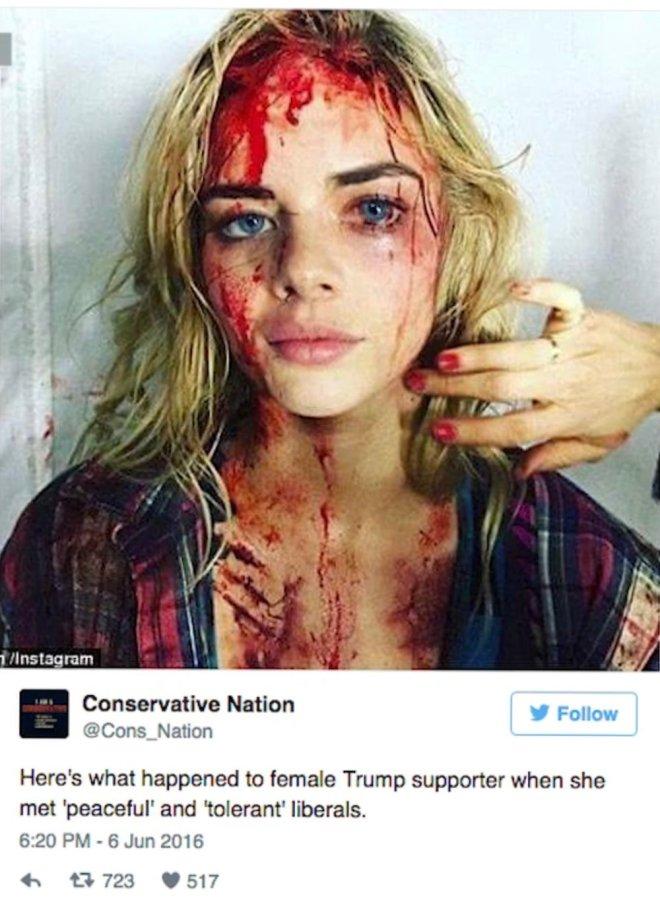 Samara Weaving - Evil Dead Actress Make-Up Test
